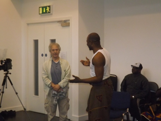 Kunle Animashaun and Dr. Eric Weitz Head Of Department of Drama and Film, Trinity College Dublin